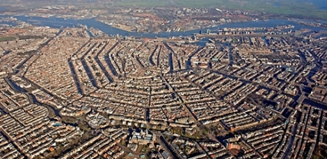 Foto aèria d'Amsterdam