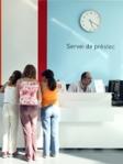 Taulell del servei de préstec de la Biblioteca Jordi Rubió i Balaguer