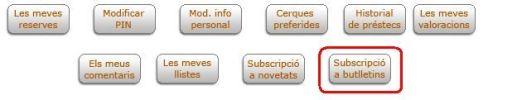 Subscripcio butlletins
