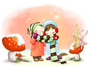 winter-kids-breath-snowflakes-mushrooms-rabbits-scarf