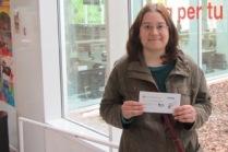 Guanyadora 1r Concurs Microrelats de les Biblioteques de Sant Boi