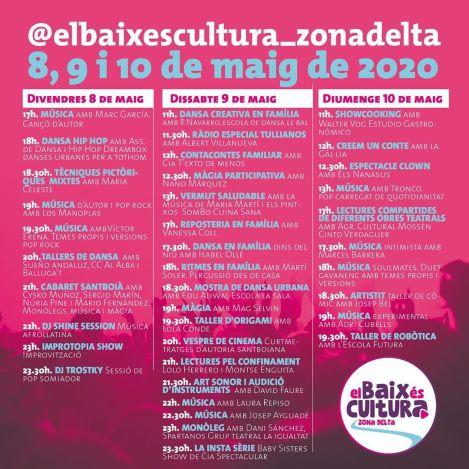 Cartell programa El Baix és cultura zona Delta