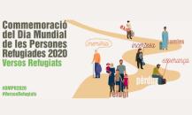 Cartell Commemoració del Dia Mundial de les Persones Refugiades 2020. Versos Refugiats